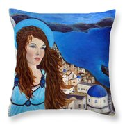 Earthangel Athena Throw Pillow by The Art With A Heart By Charlotte Phillips