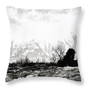 East Spanish Peak Throw Pillow by Aaron Spong