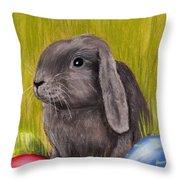 Easter Bunny Throw Pillow by Anastasiya Malakhova