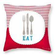Eat Throw Pillow by Linda Woods