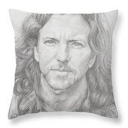 Eddie Vedder Throw Pillow by Olivia Schiermeyer