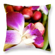 Edible Flowers Throw Pillow by Jacqueline Athmann