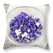 Edible Violets  Throw Pillow by Elena Elisseeva