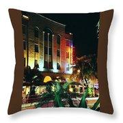 Edison Hotel Film Image Throw Pillow by Gary Dean Mercer Clark