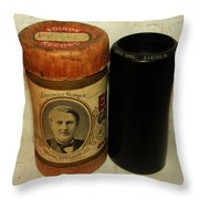 Edison Phonograph Cylinder 9750 Comic Song  Garibaldi  Throw Pillow by Bill Cannon