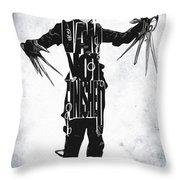 Edward Scissorhands - Johnny Depp Throw Pillow by Ayse Deniz