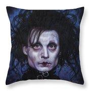Edward Scissorhands Throw Pillow by Tim  Scoggins