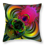 Eetsy Weetsy Spider Ocf 67 Throw Pillow by Claude McCoy