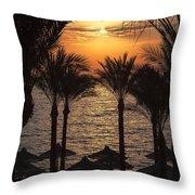 Egypt Sunrise Throw Pillow by Jane Rix
