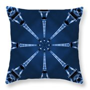 Eiffel Art 21 Throw Pillow by Mike McGlothlen