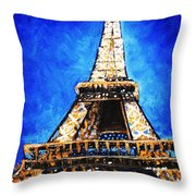 Eiffel Tower Throw Pillow by Anastasiya Malakhova