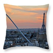 Eiffel Tower From Above Throw Pillow by Joan  Minchak