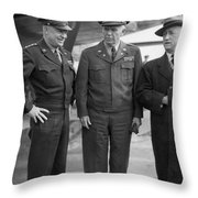 Eisenhower & Marshall 1944 Throw Pillow by Granger