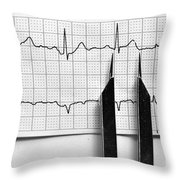 And The Beat Goes On Throw Pillow by Juli Scalzi