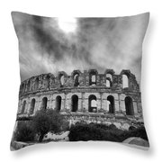 El Jem Colosseum 2 Throw Pillow by Dhouib Skander