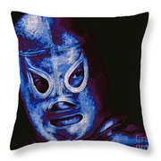 El Santo The Masked Wrestler 20130218m168 Throw Pillow by Wingsdomain Art and Photography