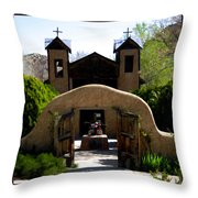 El Santuario de Chimayo Throw Pillow by Kurt Van Wagner