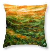 El Yunque Rainforest Throw Pillow by Zaira Dzhaubaeva