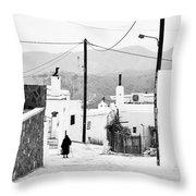 Elderly Woman In Asclipio Throw Pillow by Jimmy Karlsson