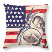 Electoral Poster For The American Presidential Election Of 1900 Throw Pillow by American School