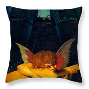 Electric Lute Throw Pillow by Garry Walton