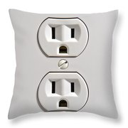 Electrical Outlet Throw Pillow by Olivier Le Queinec