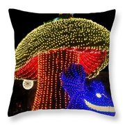 Electrical Wonderland Throw Pillow by Benjamin Yeager