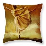 Elegance  Throw Pillow by Corporate Art Task Force
