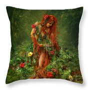 Elements - Earth Throw Pillow by Cassiopeia Art