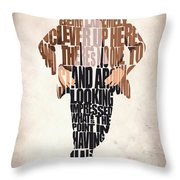 Eleventh Doctor - Doctor Who Throw Pillow by Ayse Deniz