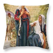 Elizabeth Throw Pillow by Harold Copping
