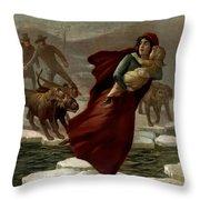 Elizas Escape Throw Pillow by Terry Reynoldson