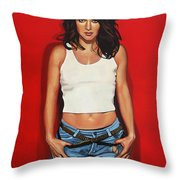 Ellen ten Damme Throw Pillow by Paul  Meijering