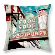 Elliston Place Soda Shop Throw Pillow by Amy Tyler