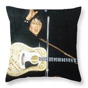 Elvis 1956 Throw Pillow by Bryan Bustard