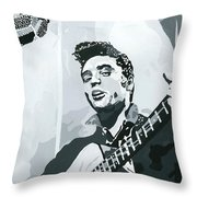 Elvis At Sun Throw Pillow by Suzanne Gee