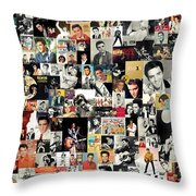 Elvis The King Throw Pillow by Taylan Soyturk
