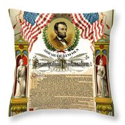 Emancipation Proclamation Tribute 1888 Throw Pillow by Daniel Hagerman