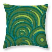 Emerald Green Abstract Throw Pillow by Frank Tschakert