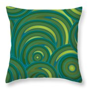 Emerald Green Abstract Throw Pillow by Frank Tschakert