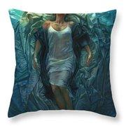 Emerge Painting Throw Pillow by Mia Tavonatti