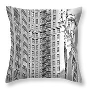 Emergency Exit Chicago Il Throw Pillow by Christine Till