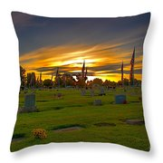 Emmett Cemetery Throw Pillow by Robert Bales