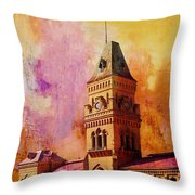 Empress Market Throw Pillow by Catf