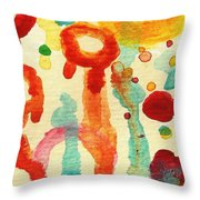 Encounters 1 Throw Pillow by Amy Vangsgard