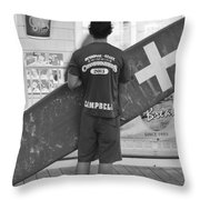 End Of The Day - Black And White Throw Pillow by Kim Bemis