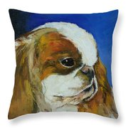 English Toy Spaniel Throw Pillow by Michael Creese
