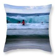 Enjoy The Ocean 2 Throw Pillow by Hannes Cmarits