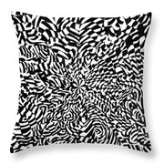 Entangle Throw Pillow by Crystal Hubbard