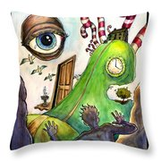 Entering The Lucid Dream Throw Pillow by John Ashton Golden
